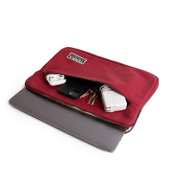EarthHero - Organic Cotton Laptop Sleeve 15 - 17in - Red - 1