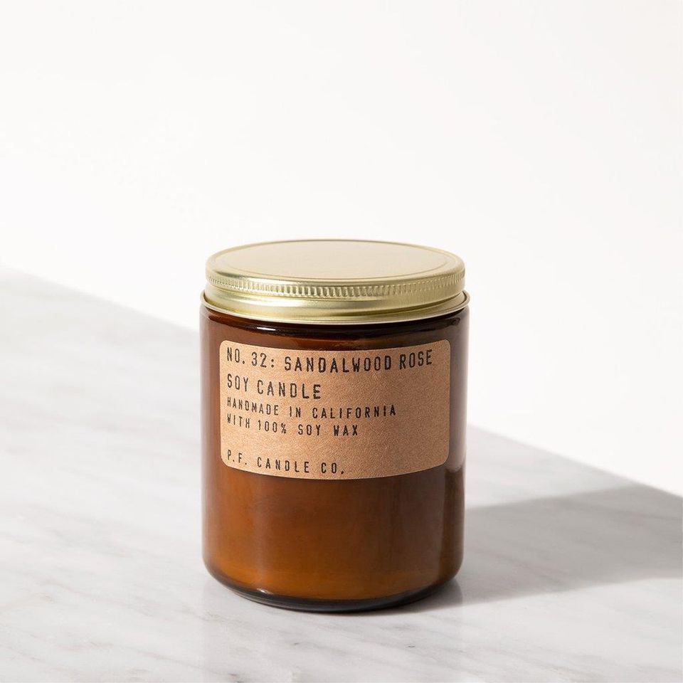 Sandalwood rose soy candle | P.F. Candle Co. | 14 Sustainable Valentine's Day Gifts to Show Your Love This Season | Sustainable