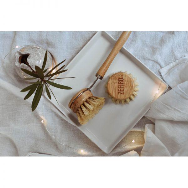 EarthHero - Long Handle Bamboo Dish Brush - 4