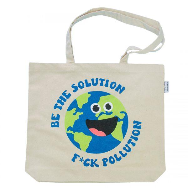 "EarthHero - ""Be the Solution"" Reusable Tote Bag - 1"